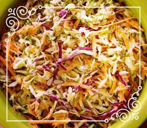 Asian-style Zucchini Coleslaw