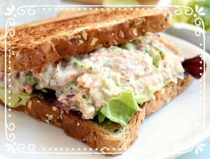 Dilled Salmon Sandwich Filling